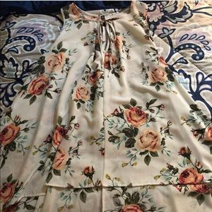 floral summer flowy shirt